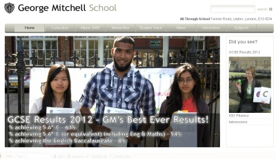 George Mitchell School web site image